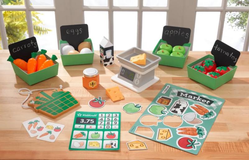 KIDKRAFT Stánek s ovocem a zeleninou