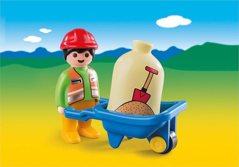 Playmobil 6961 Stavební dělník s kolečkem (1.2.3)