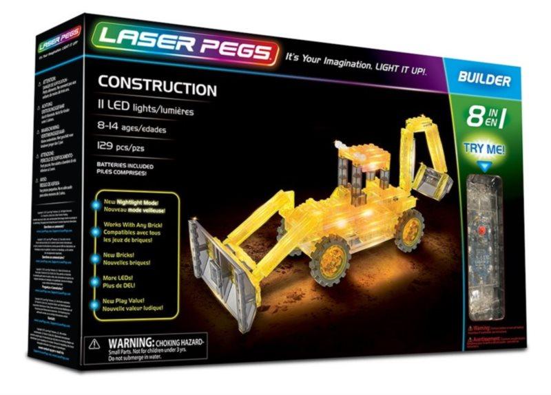 Svítící stavebnice LASER PEGS Stavební technika 8v1