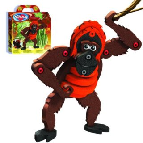 Stavebnice Bloco Orangutan 58 dílků
