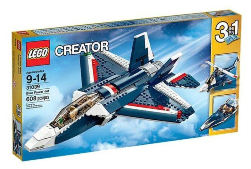 poškozený obal: Stavebnice LEGO® Creator 31039 Stíhačka Blue Power