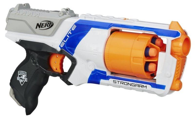 NERF N-STRIKE Strongarm pistole s bubnovým zásobníkem