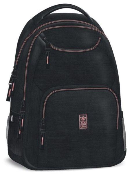 7984e65e4 ARS UNA Studentský batoh Autonomy AU6 černo-růžový