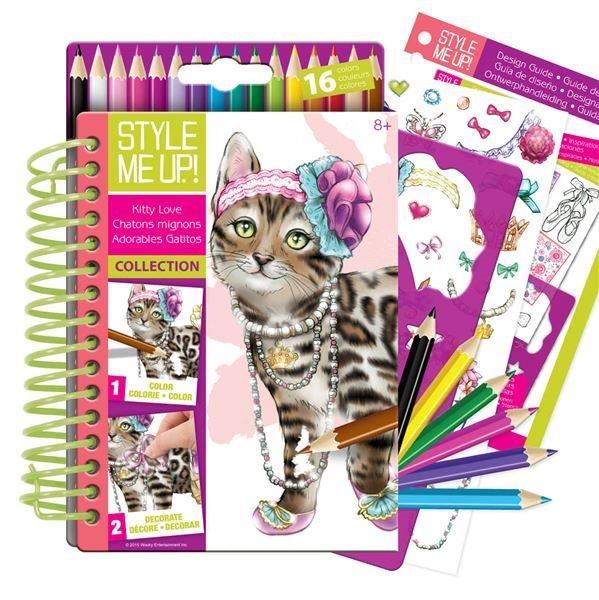 Style Me Up: Kočky - Návrhářské portfolio s pastelkami