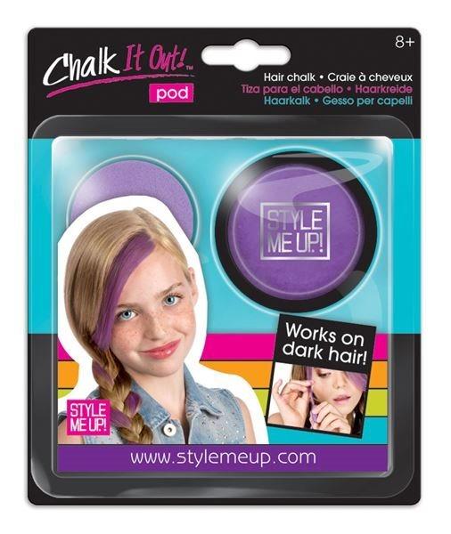Style Me Up: Křída na vlasy fialová