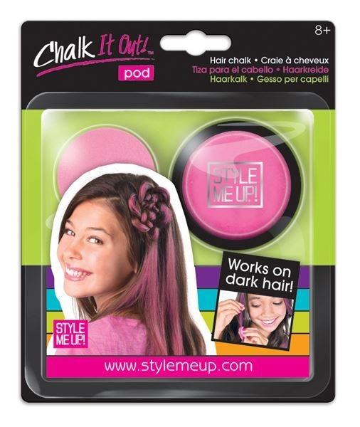 Style Me Up: Křída na vlasy růžová