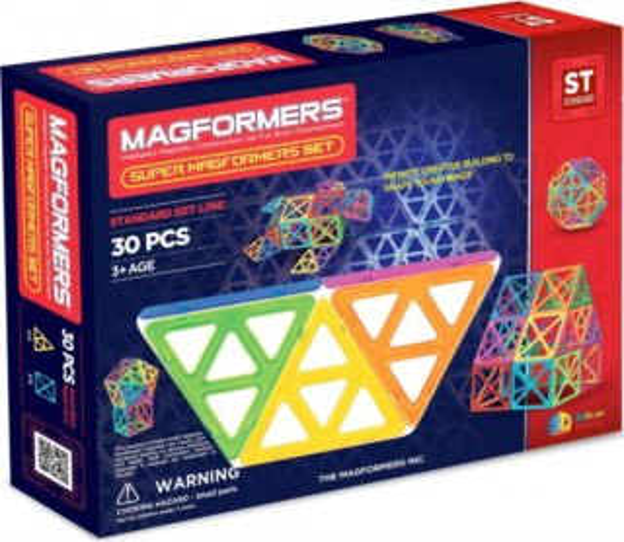 Magnetická stavebnice Super MAGFORMERS 30 dílků