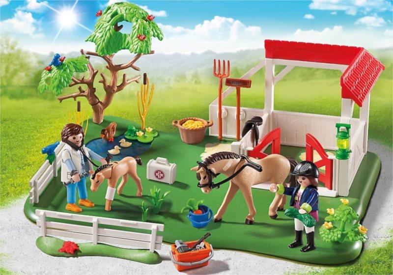 Playmobil 6147 Super Set Padok se stáním na koně