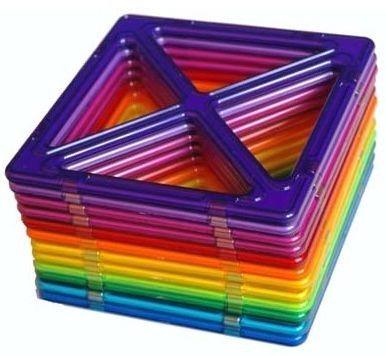 Magnetická stavebnice MAGFORMERS Superčtverce 12 kusů