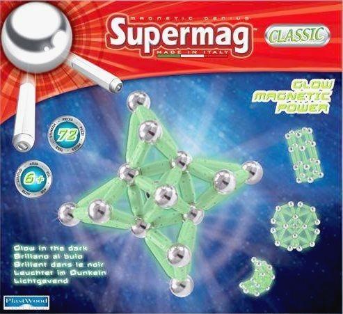 Supermag Classic Glow - 72 dílků