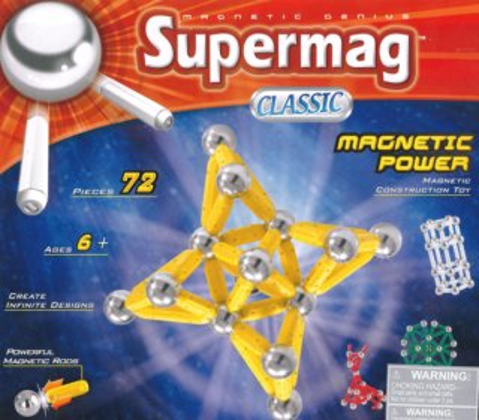 Magnetická stavebnice SUPERMAG - Classic 72 dílků
