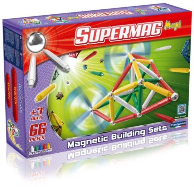 Magnetická stavebnice Supermag MAXI - 66 dílků