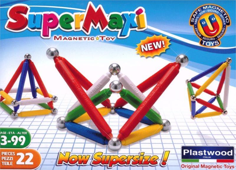 Magnetická stavebnice SuperMaxi klasik - 22 dílků
