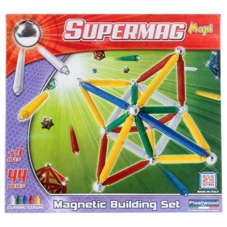 Magnetická stavebnice SuperMaxi klasik - 44 dílků
