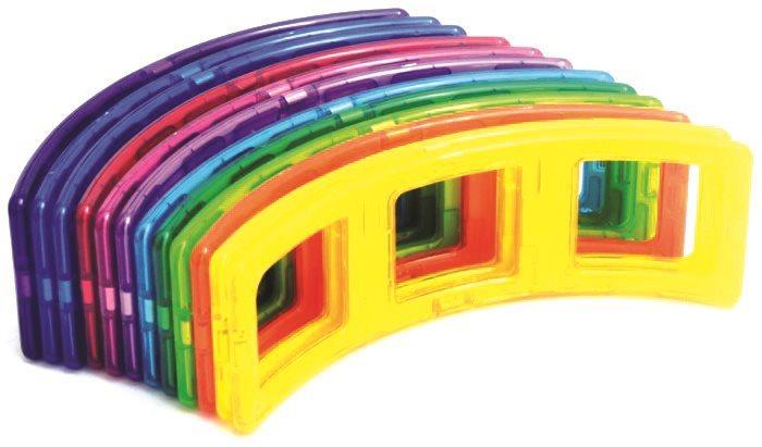 Magnetická stavebnice MAGFORMERS Superoblouky 12 ks ve fólii