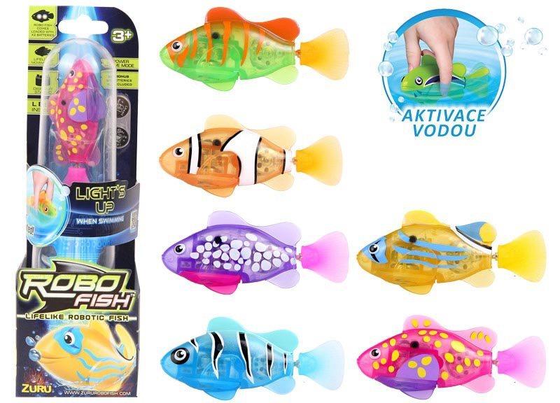 ZURU Svítící robo ryba