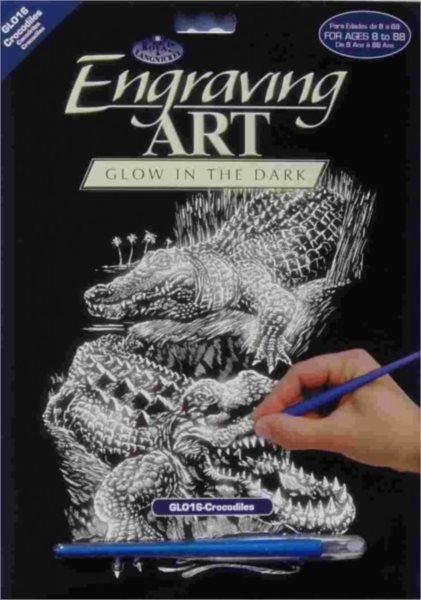Svítící škrabací obrázek - Krokodýli