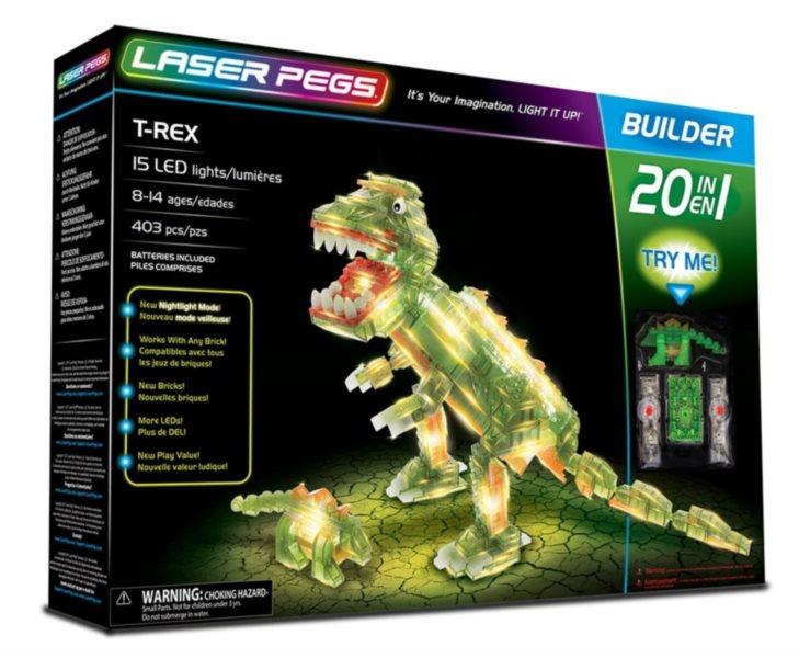Svítící stavebnice LASER PEGS T-Rex 20v1