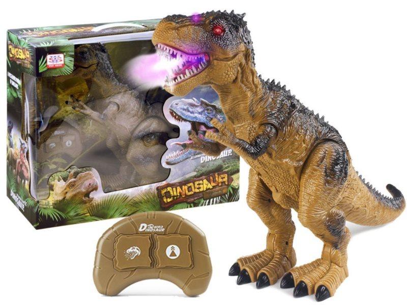 T-Rex chrlící páru se světly a zvuky