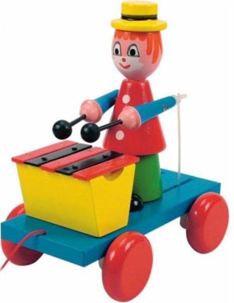 WOODY Tahací klaun s xylofónem