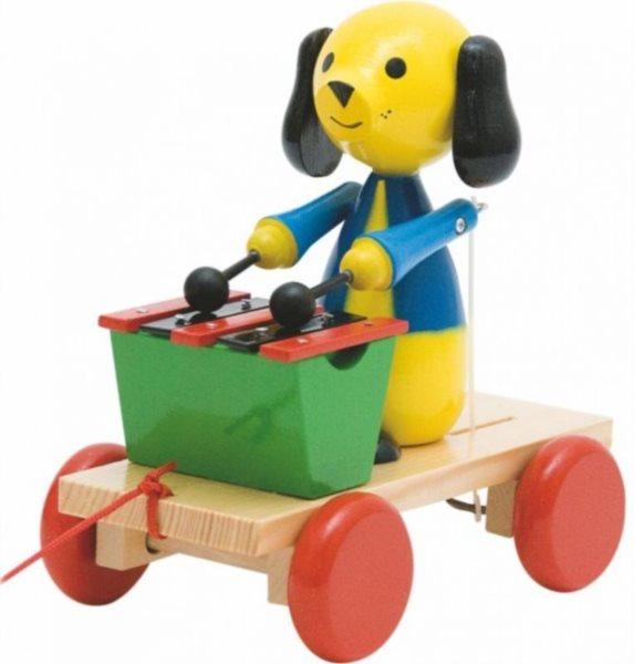 WOODY Tahací pes s xylofónem