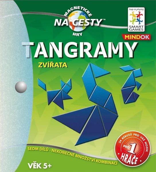 Magnetická logická hra Tangramy: Zvířata, MINDOK