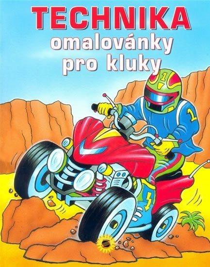 Kniha: Technika - omalovánky pro kluky, Nakladatelství SUN