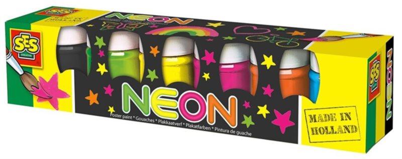 SES Temperové barvy Neonové 6 x 45 ml
