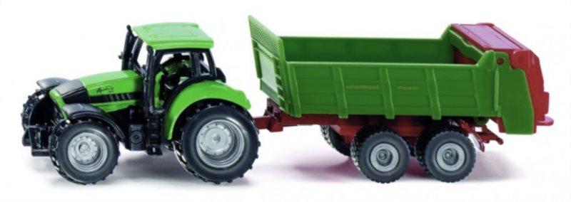 SIKU 1673 Traktor Agcotcon 265 s vlečkou