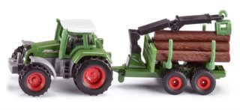 SIKU 1645 Traktor Favorit 926 s přívěsem na kulatinu