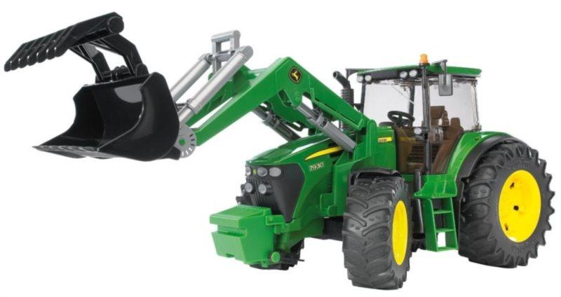 BRUDER Traktor John Deere 7930 s předním nakladačem 1:16