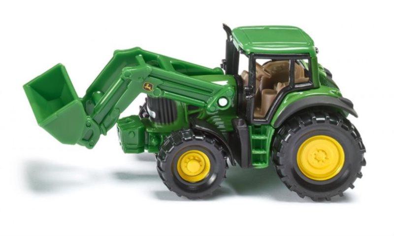SIKU 1341 Traktor John Deere s čelním nakladačem