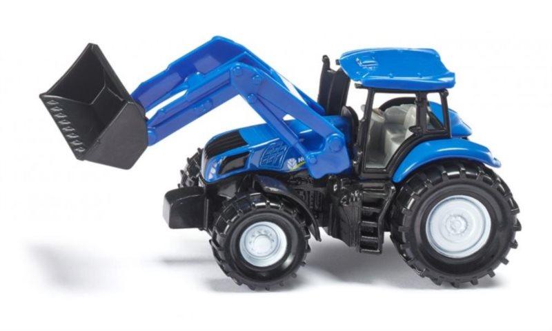 Traktor New Holland s čelním nakladačem
