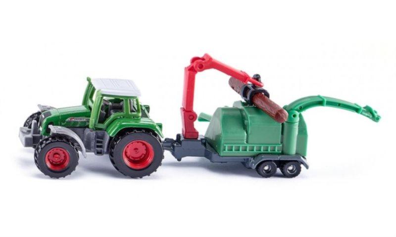 SIKU 1675 Traktor se štěpkovačem