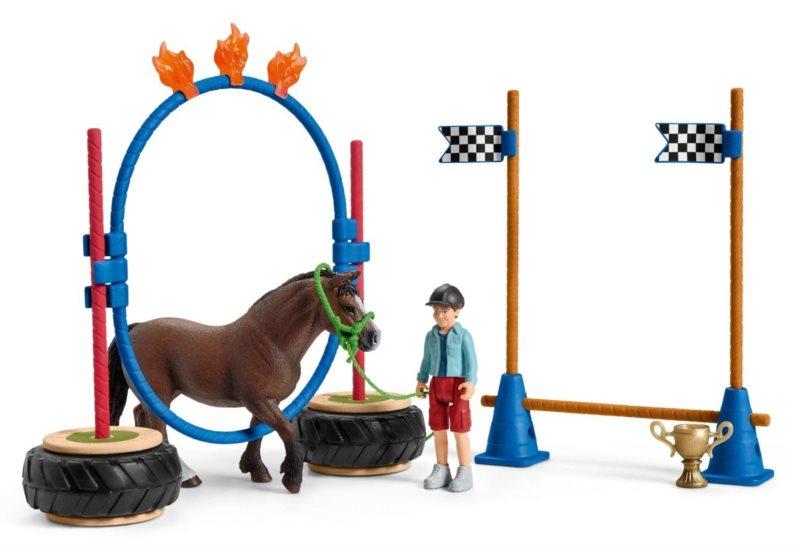 SCHLEICH Závod v agility pro pony