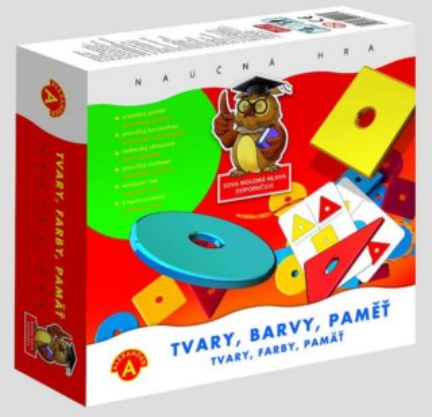 ALEXANDER Dětská naučná hra Tvary, barvy, paměť