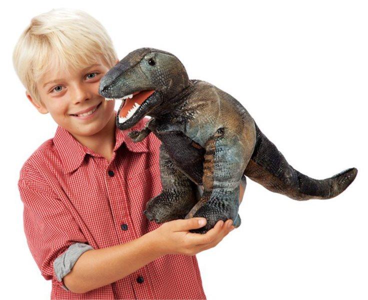 Tyranosaurus Rex (pohyblivý plyšák na ruku), FOLKMANIS PUPPETS