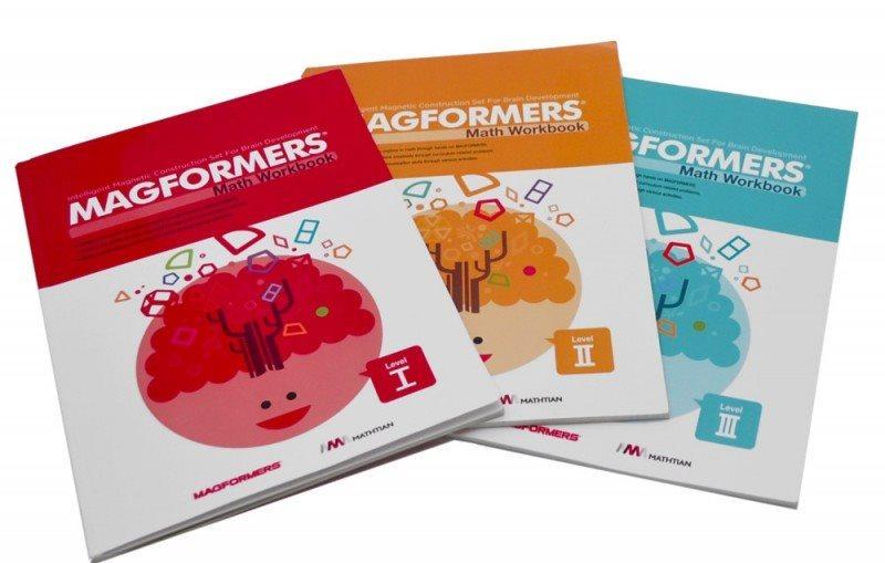 Magformers Math Workbook - Sada 3 pracovních sešitů do matematiky (anglicky)