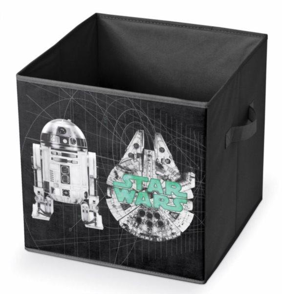 Úložný box Star Wars: R2-D2 a Millenium Falcon 32x32x32cm