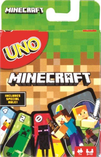 MATTEL - UNO karetní hra - Minecraft