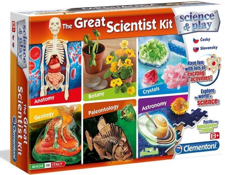 CLEMENTONI Science&Play: Velká sada vědeckých experimentů 6v1