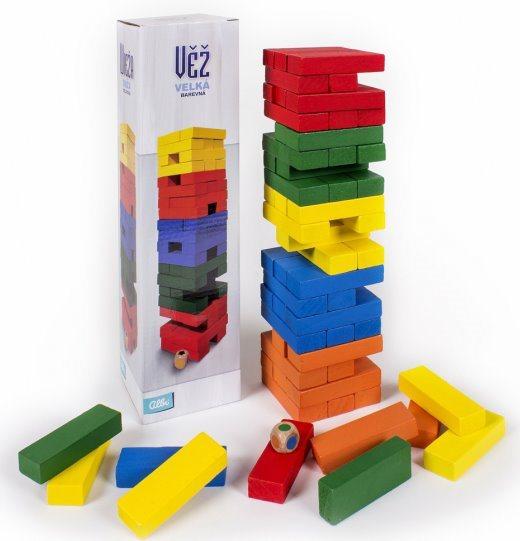 ALBI Velká věž barevná s kostkou