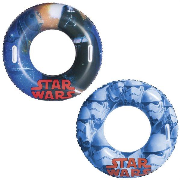 BESTWAY Velký nafukovací kruh s úchyty Star Wars 91cm (mix)