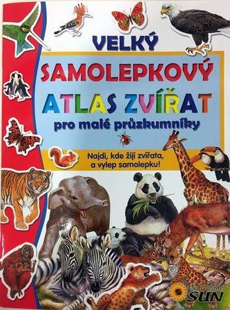 Kniha: Velký samolepkový atlas zvířat, Nakladatelství SUN