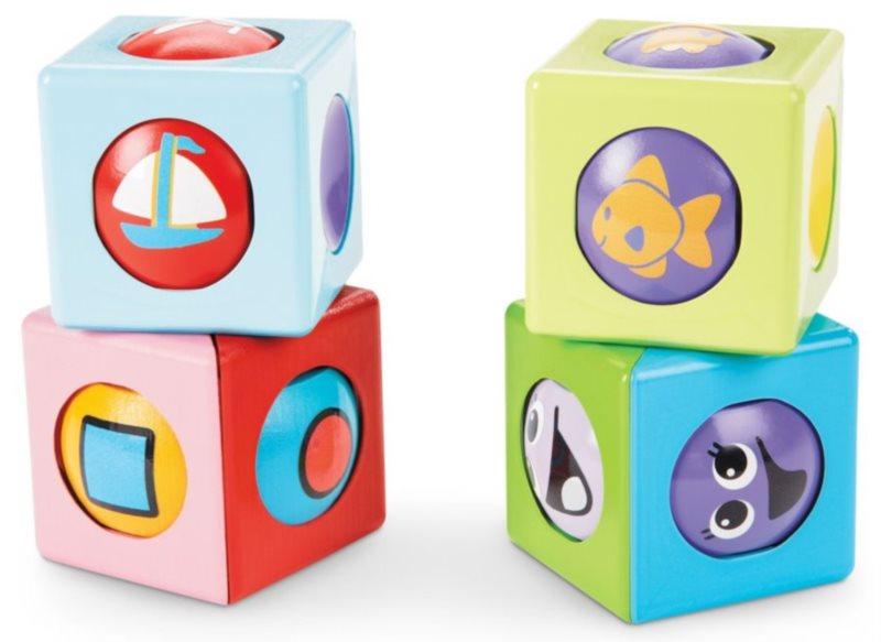 Veselé kostky s kuličkou - základní barvy