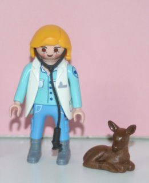 Playmobil 9333 Figurky pro holky - Veterinářka (série 13)