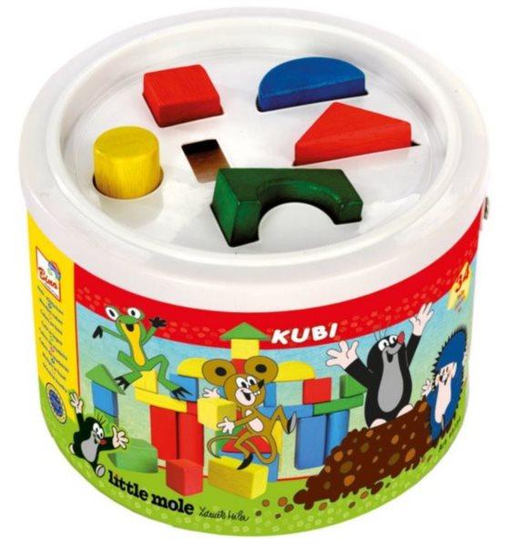 Vkládací kostky v kbelíku - Krteček