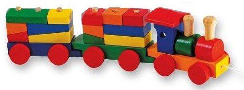 Vláček s kostkami - Dřevěná hračka