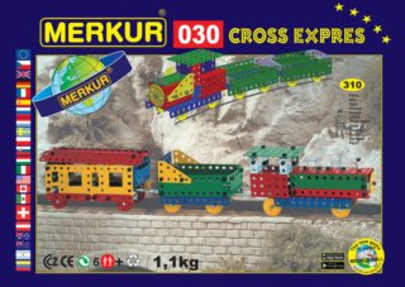 Stavebnice MERKUR - Vlak Expres M030