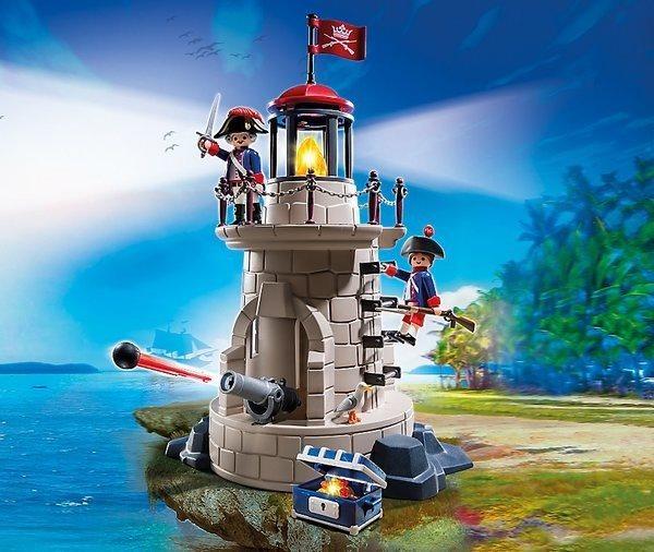 poškozený obal: Playmobil 6680 Vojenská věž s majákem
